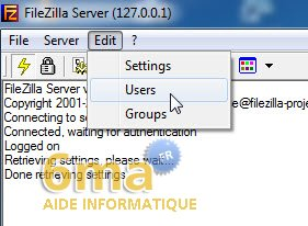 Creer un serveur FTP avec Filezilla Server image 7