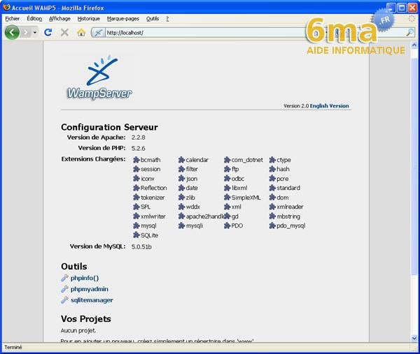 tutoriel WAMP server image 15