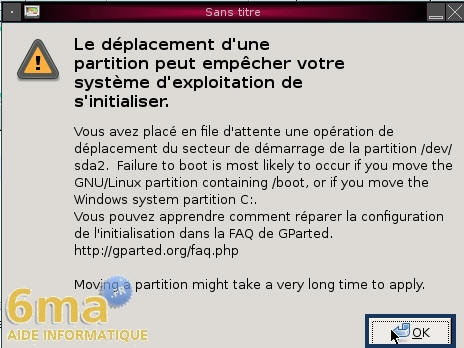 Gparted Live CD : Partitionner un disque dur (2/2) image 8