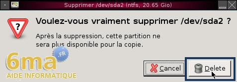 Gparted Live CD : Partitionner un disque dur (2/2) image 15