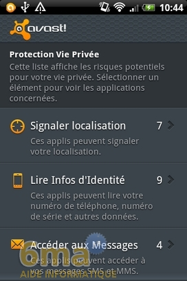 Protéger son mobile Android avec Avast Mobile Security image 7