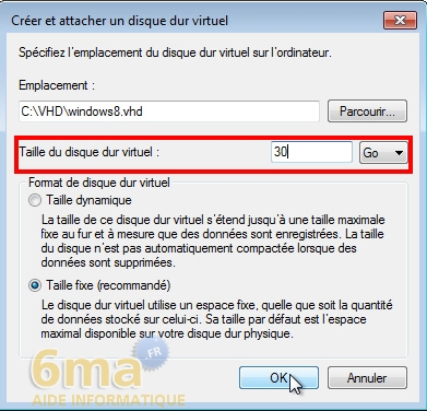 Comment installer Windows 8 sur un VHD en dual boot avec Windows 7 ? image 5