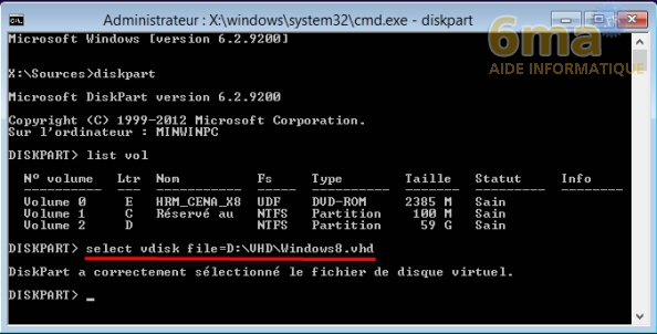 Comment installer Windows 8 sur un VHD en dual boot avec Windows 7 ? image 11