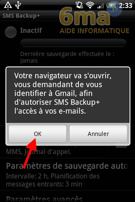 Sauvegarder automatiquement ses SMS d'Android vers Gmail avec SMS Backup + image 2