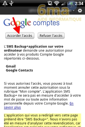Sauvegarder automatiquement ses SMS d'Android vers Gmail avec SMS Backup + image 4
