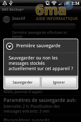 Sauvegarder automatiquement ses SMS d'Android vers Gmail avec SMS Backup + image 5