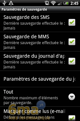Sauvegarder automatiquement ses SMS d'Android vers Gmail avec SMS Backup + image 13