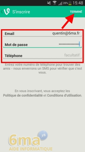 Comment utiliser l'application Vine ? image 3